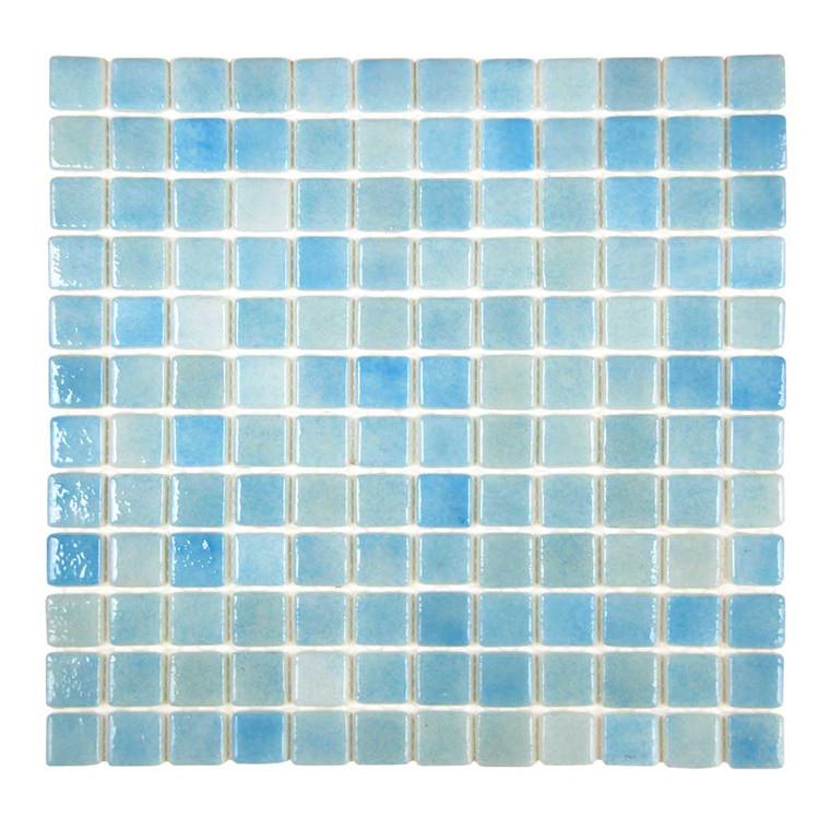 "Islamorada Freshwater Blue 1"" x 1"" Pool Grade Tile"