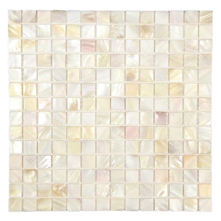 South Seas Super White Square Seamless 1x1 Pearl Shell Tile