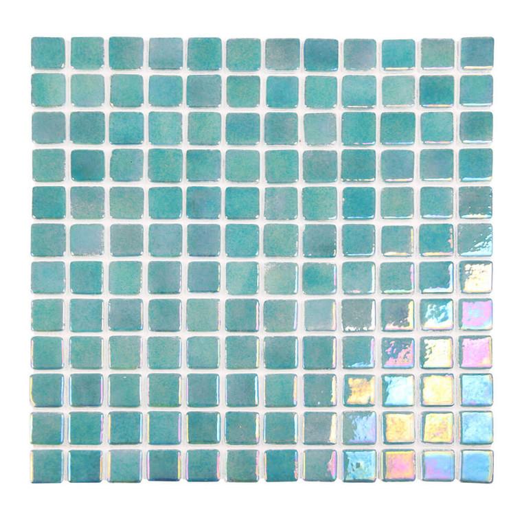 Sea Pearl Lagoon Green Iridescent 1x1 Pool Tile