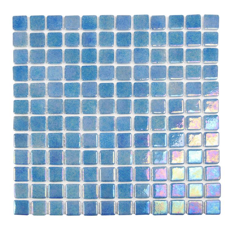 Sea Pearl Tropic Blue Iridescent 1x1 Pool Grade Tile
