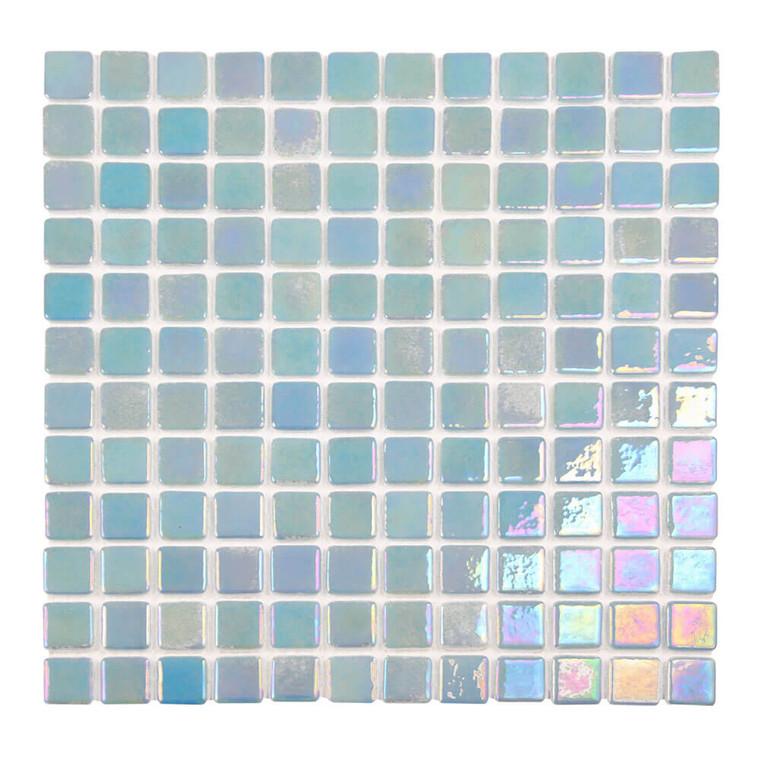 Sea Pearl Misty Blue Iridescent 1x1 Pool Tile