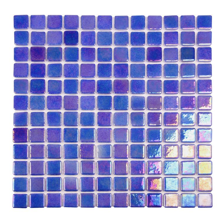 Sea Pearl Coastal Blue Iridescent 1x1 Pool Tile