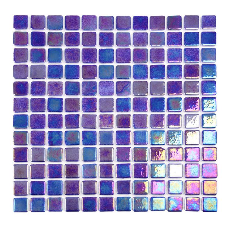 Sea Pearl Seaside Blue Iridescent 1x1 Pool Tile