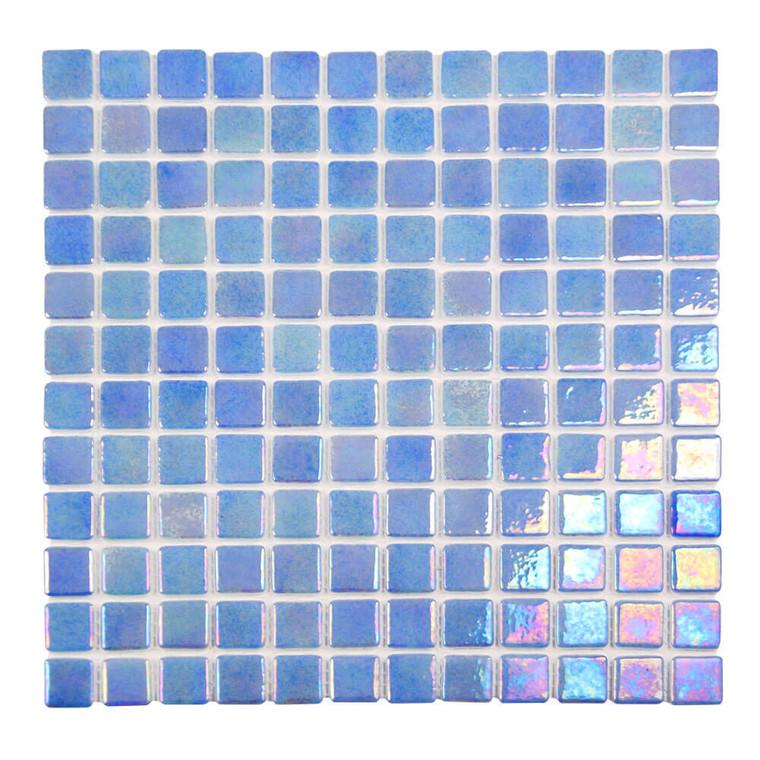 Sea Pearl Horizon Blue Iridescent 1x1 Pool Tile