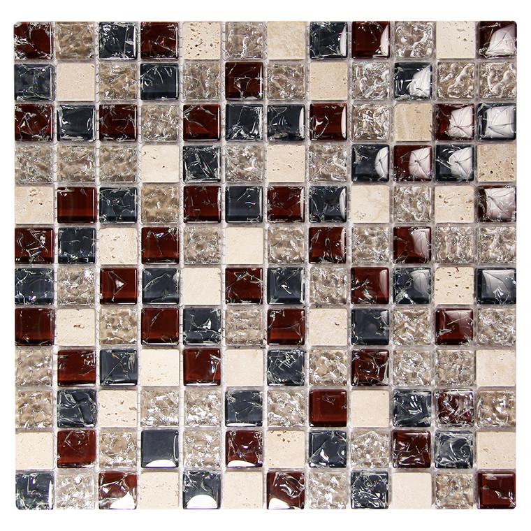Electra GMC 1  Burgundy Mosaic Glass Tile