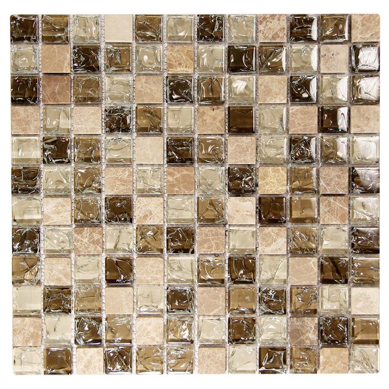 Electra GMC 2 Brown Mosaic Glass Tile