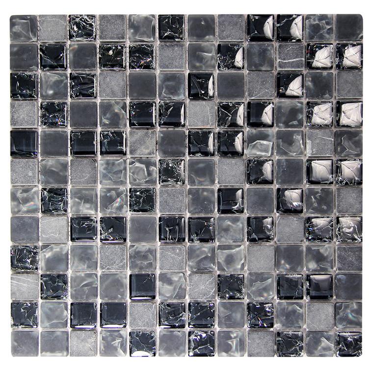 Electra GMC 4 Black Mosaic Glass Tile