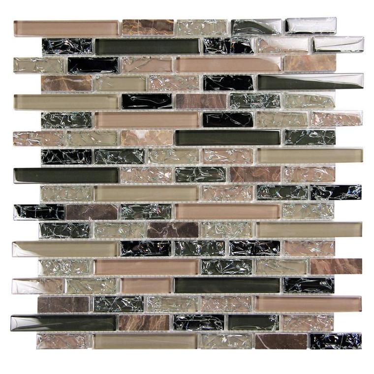 Eros 1 Green Mosaic Glass Tile
