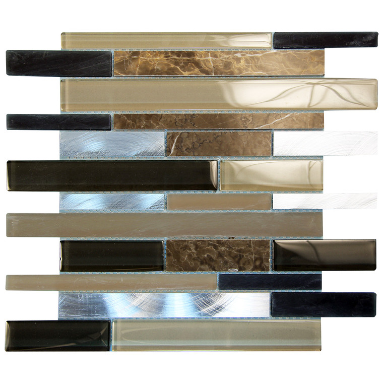 Eternital Brown Mosaic Glass Tile