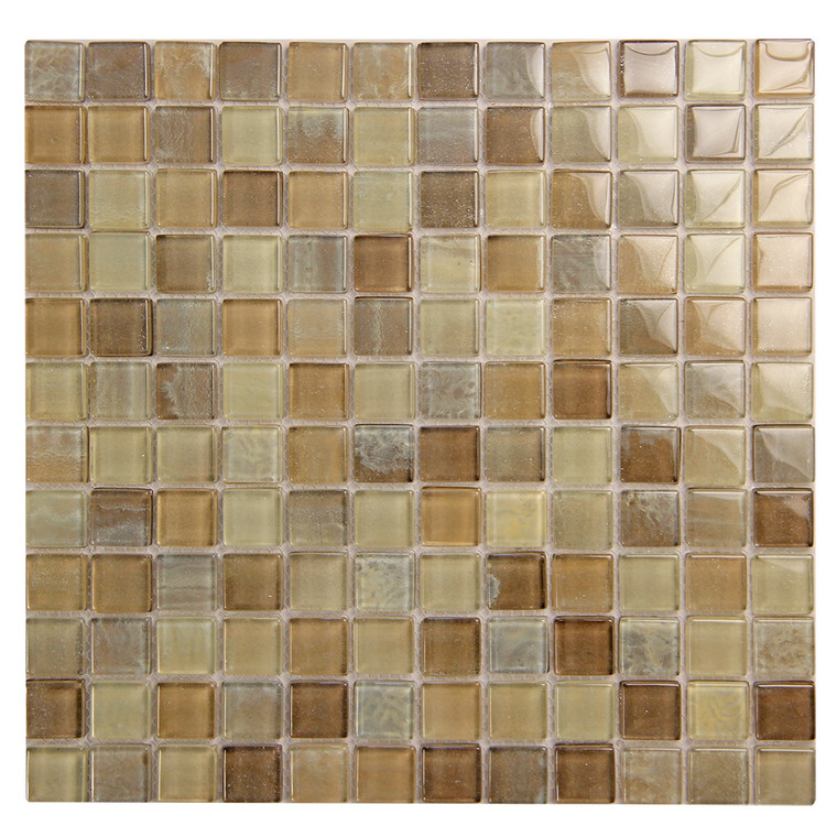 Extant Beige 1x1 inch Pool Mosaic Glass Tile