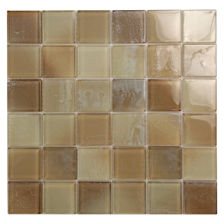 Extant Beige 2x2 inch Pool Mosaic Glass Tile