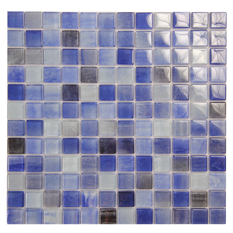 Extant Blue 1x1 inch Pool Mosaic Glass Tile