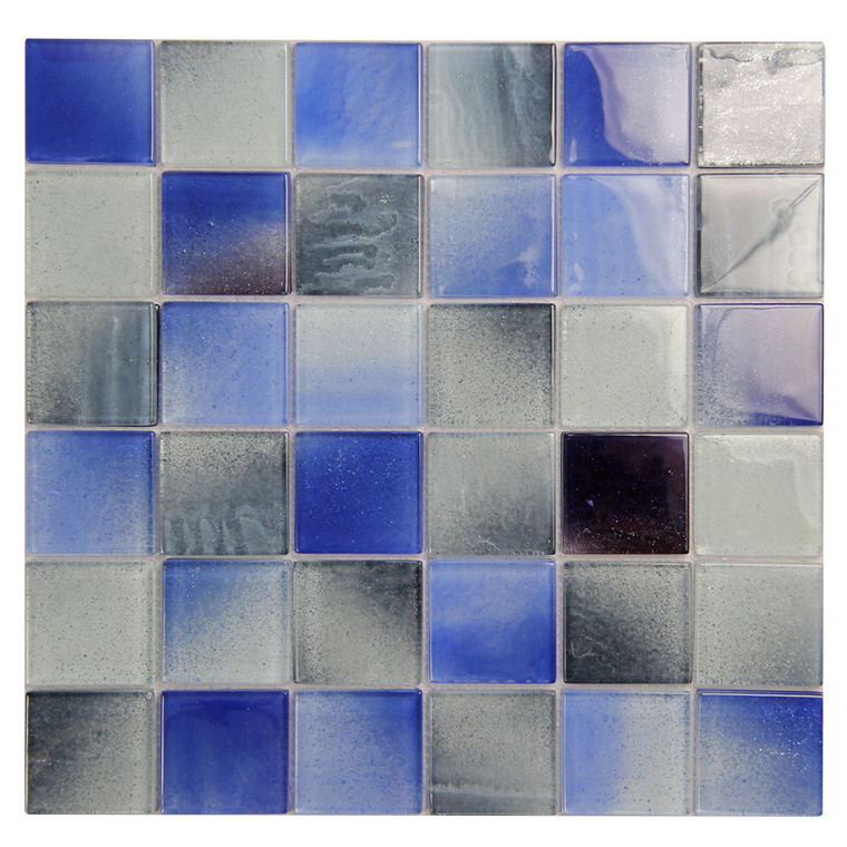Extant Blue MIx 2x2 Pool Mosaic Glass Tile