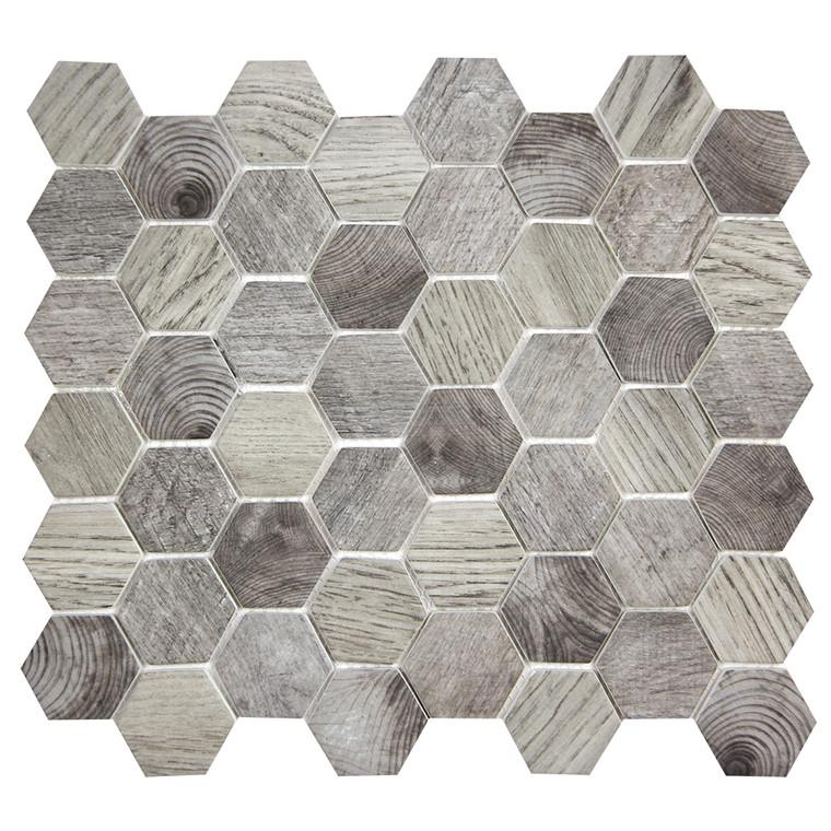 Hexacycle Charcoal Grey Hexagon Recycled Glass Tile