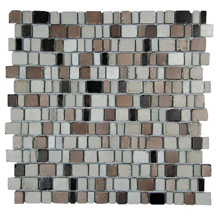 Ice Age Muskox Rustic Glass Tile