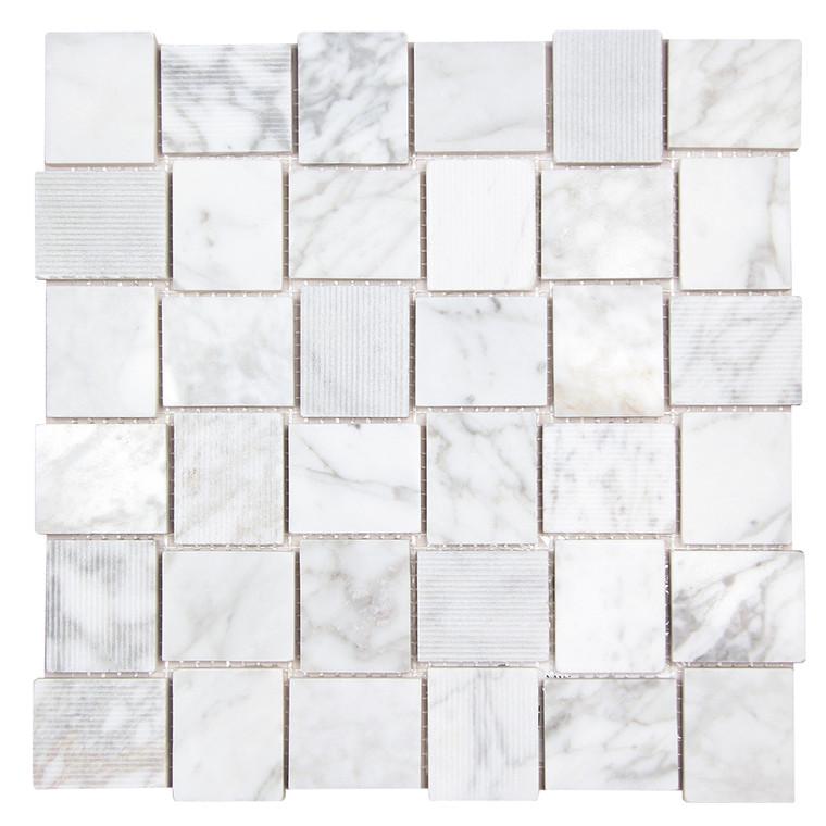 Linker Carrara Mosaic Stone Tile