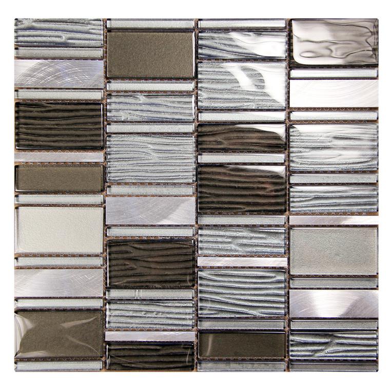 Loft Grey Mosaic Glass Tile