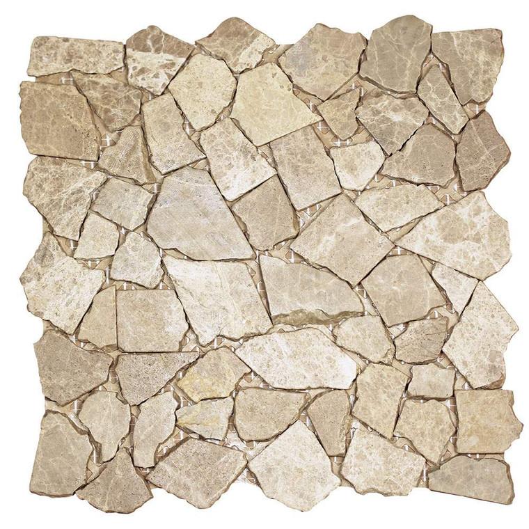 Nuur Light Emperador Mosaic Stone Tile