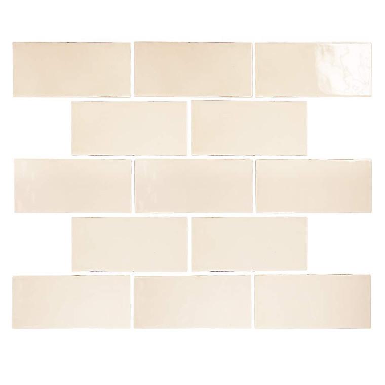 Pastel Buff Glossy 3x6 Porcelain Subway Tile