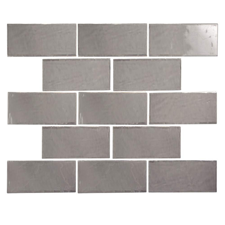 Pastel Pepper Grey Glossy 3x6 Porcelain Subway Tile