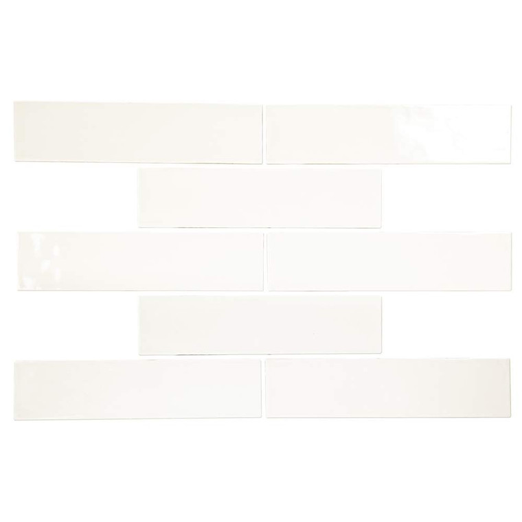 Pastel Off White Glossy 3x12 Porcelain Subway Tile - Box of 5.4Sq. Ft.