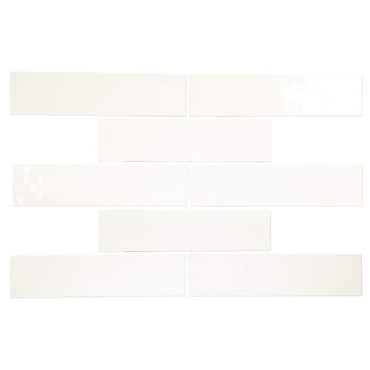 Pastel Off White Glossy 3x12 Porcelain Subway Tile - Box of 5.4Sq. Ft.
