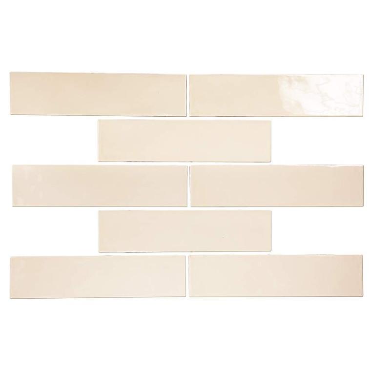 Pastel Buff Glossy 3x12 Porcelain Subway Tile