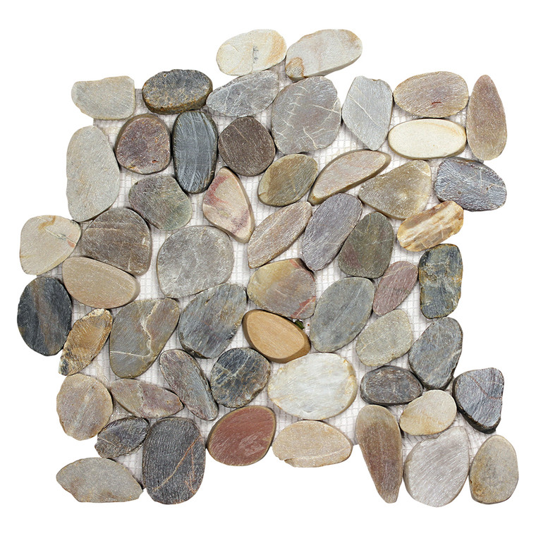Pebble Stone Sliced Mixed Tile