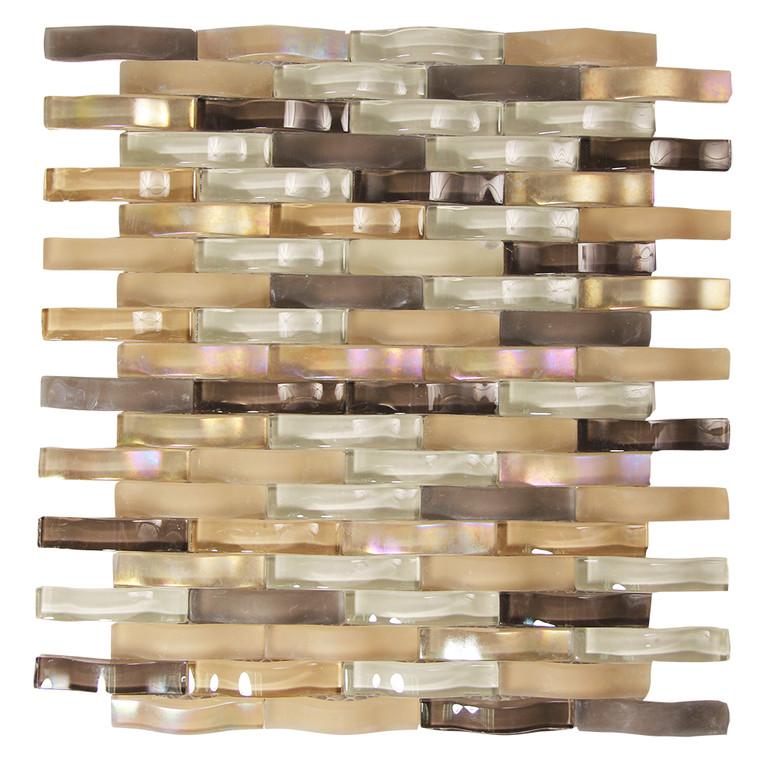Ripple Incense Wavy Mosaic Glass Tile