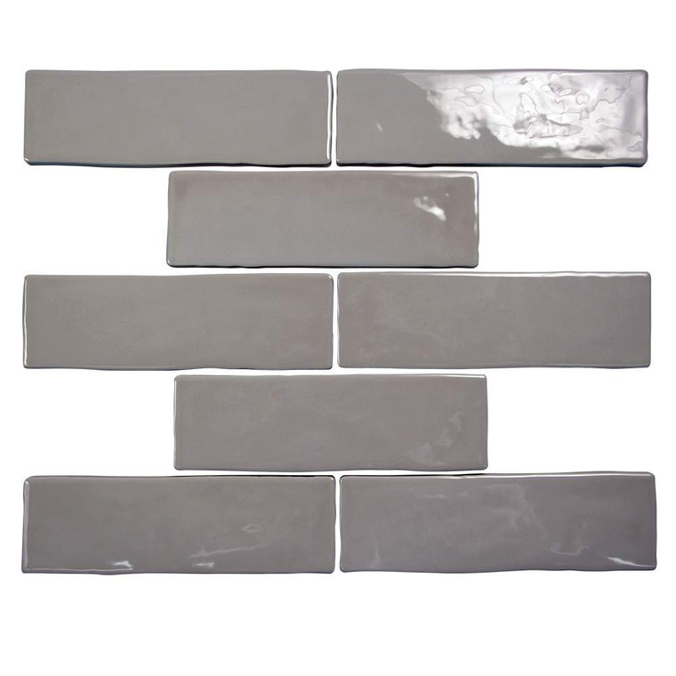 Pastel Pepper Glossy 2x8 Porcelain Subway Tile