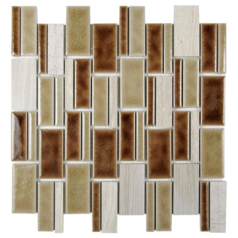 Mirada 73 Beige Ceramic and Marble Tile