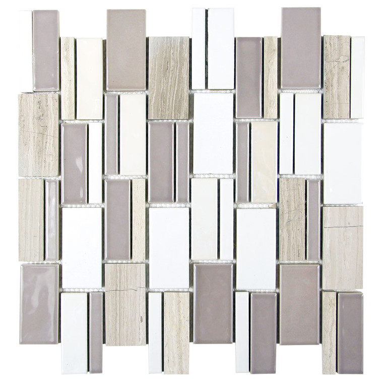 Mirada 73 Grey and Beige Ceramic and Marble Tile
