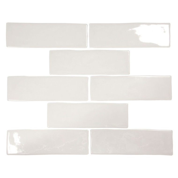 Pastel Light Grey Glossy 2x8 Porcelain Subway Tile