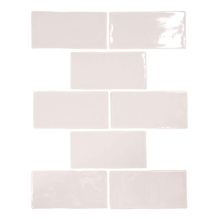 Pastel Light Grey Glossy 3x6 Porcelain Subway Tile