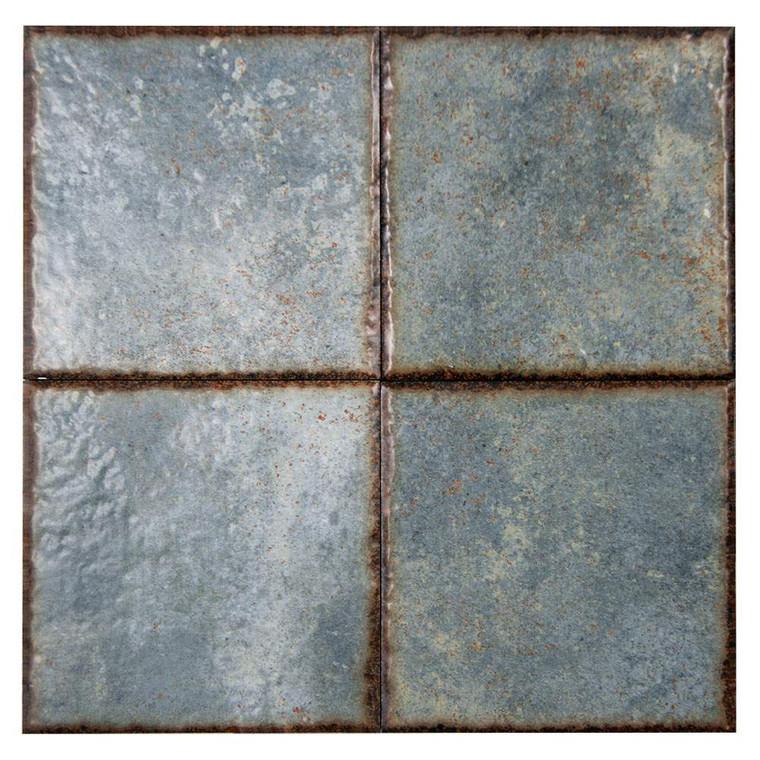 Benisa Green Porcelain 6x6 Pool Grade Tile