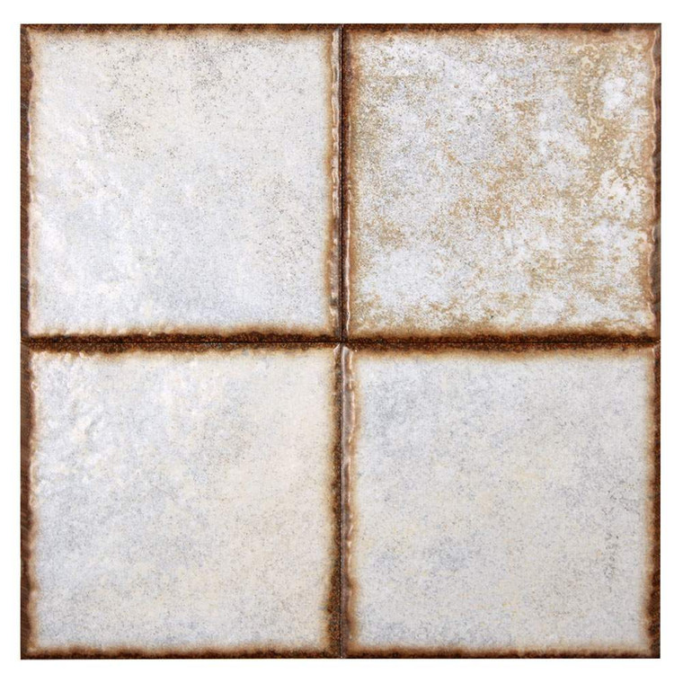 Benisa White 6x6 Porcelain Pool Grade Tile
