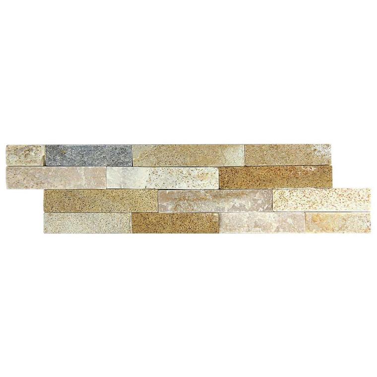Slim Brick Beige Stone Tile - Box of 3.5 Sq. Ft