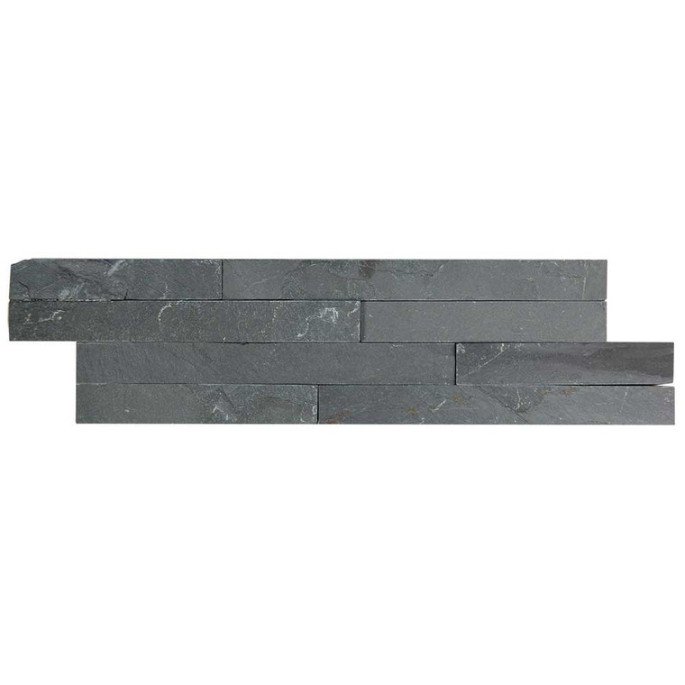 Pacific Slim Brick Black Stone Tile - Box of 3.5 Sq. Ft.