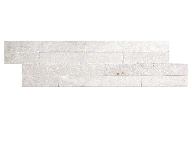 Pacific Slim Brick White Stone Tile - Box of 3.5 Sq. Ft.