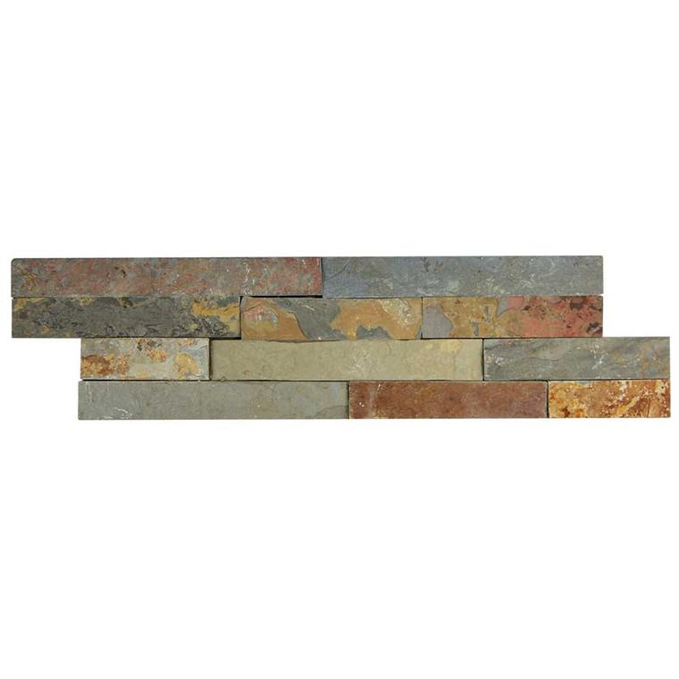 Pacific Slim Brick Multi Stone Tile - Box of 3.5 Sq. Ft.