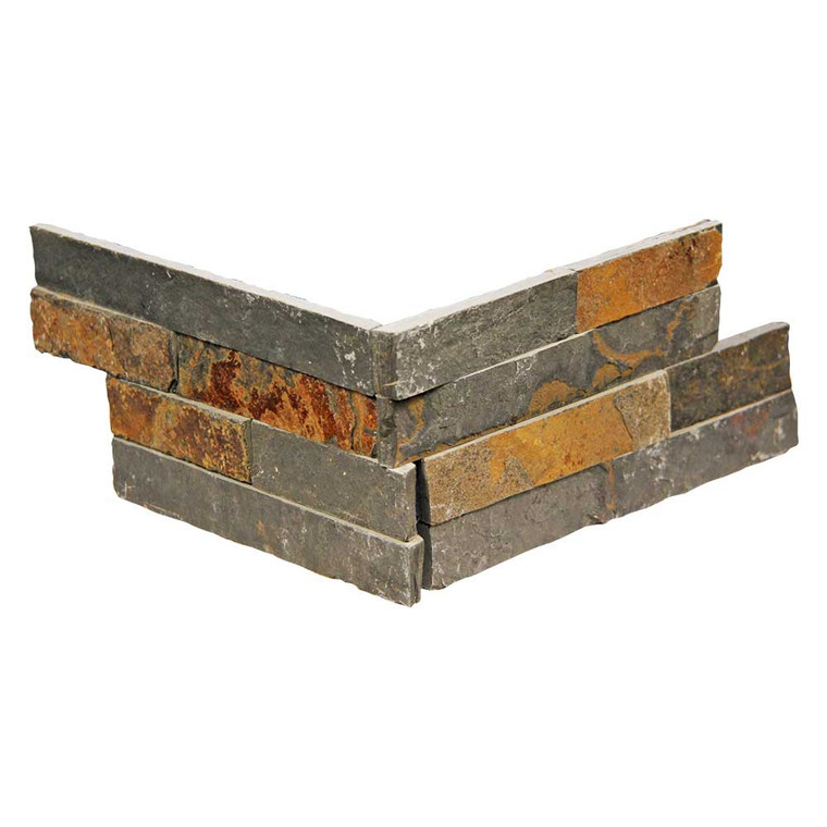 Pacific Slim Brick Multi Stone Tile - Corner