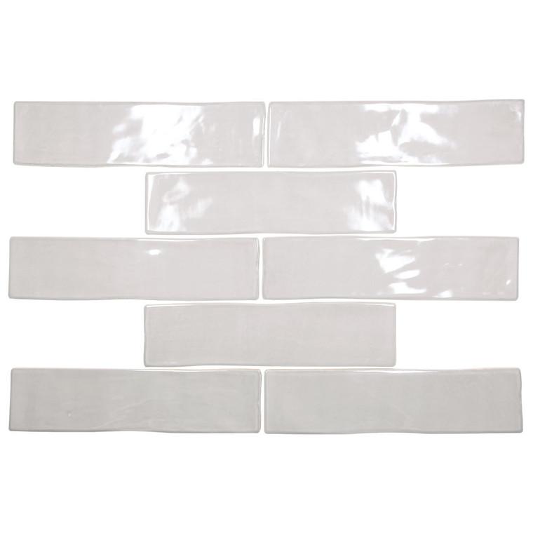 Cape Cod Grey Shiny 3x12 Porcelain Subway Tile - Box of 6.15 Sq. Ft.