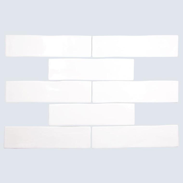 Cape Cod White Shiny 3x12 Porcelain Subway Tile - Box of 6.15 Sq. Ft.