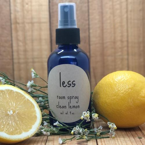 Lemon Room Spray Glass Bottle
