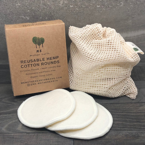 reusable hemp cotton rounds