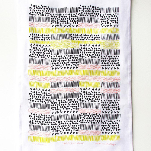 Fields from Above Tea Towel