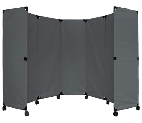 MP10 Economical Folding Portable Partition 10' x 6' Pewter Gray Canvas
