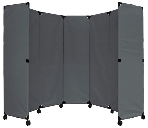 "MP10 Economical Folding Portable Partition 10' x 6'10"" Pewter Gray Canvas"