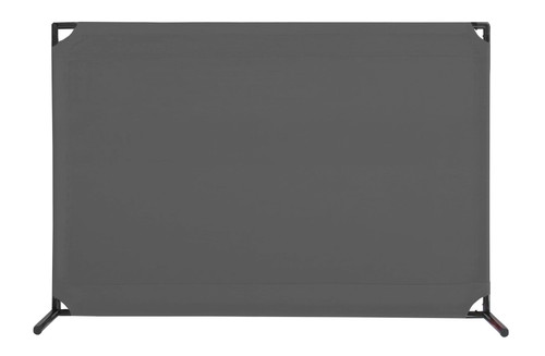 VP4 Two-Position Economical Partition 4' x 6' Pewter Gray Canvas