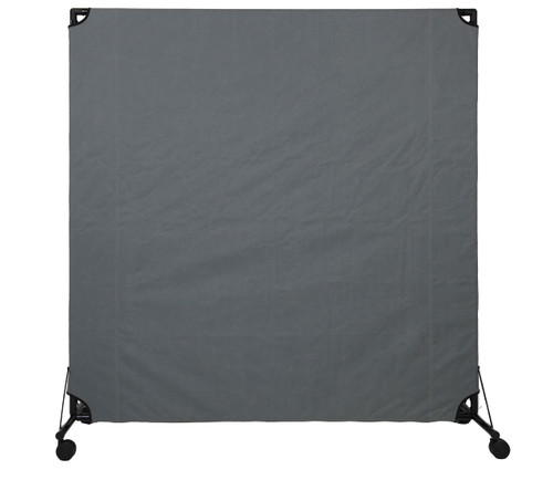 VP6 Rolling Economical Partition 6' x 6' Pewter Gray Canvas